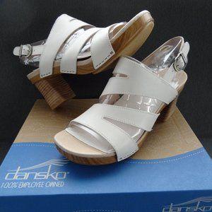 NEW Dansko Ashlee Sandal 41 10.5-11 Ivory Buckle